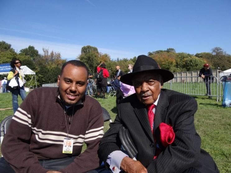 Com Al Dixon - um dos líderes do movimento pelos direitos civis nos EUA